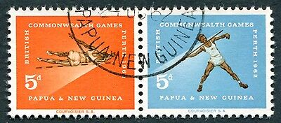 PAPUA NEW GUINEA 1962 5d+5d SG39a NG British Empire & Commonwealth Games #W9
