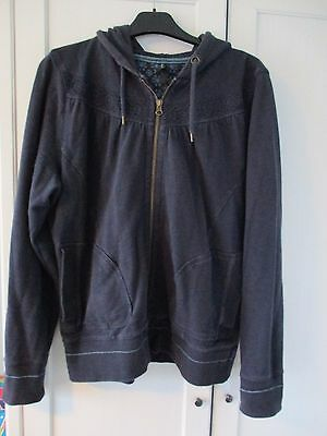 M&S hooded sweat jacket, navy,size 16