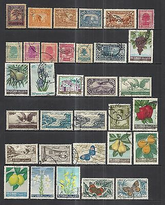 Lebanon  - Nice Lot -  Majority Used Issues  Two Pages  - 1930 To 1970
