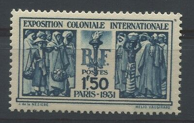 RC 5187 FRANCE 274 - 1f50 EXPOSITION COLONIALE 1931 NEUF ** COTE 110€