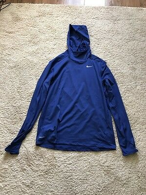 Nike Dri-fit Hooded Running Top New Sz Men's Large Rrp £50