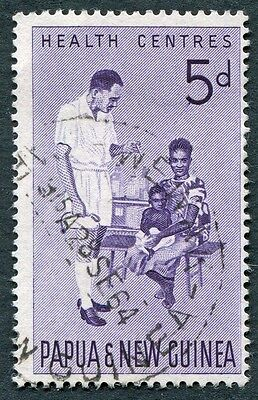 PAPUA NEW GUINEA 1964 5d violet SG57 used NG Health Services #W9