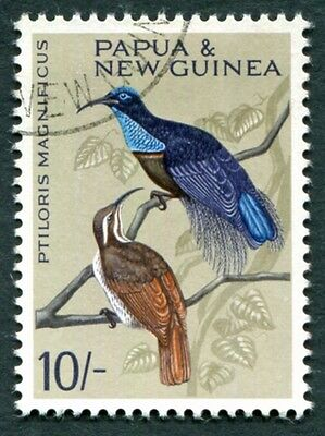 PAPUA NEW GUINEA 1965 10s SG71 CV £6.50 used NG Birds #W9