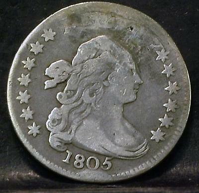 1805 Draped Bust Dime Id#pp443
