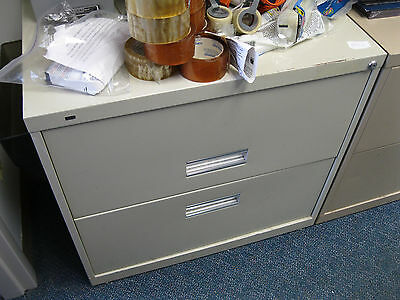"Gray Lateral 2 drawer File Cabinet 30"" x 18"" x 28"""
