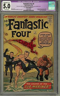 Fantastic Four #4 CGC 5.0 (OW) 1st Silver age Sub-Mariner