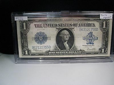 "FAULTY ALIGNMENT ERROR 1923 US Silver Certificate ""Horse Blanket"". Better Grade"
