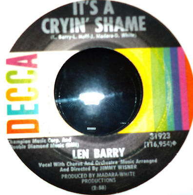 ♫ Northern Soul - LEN BARRY - IT'S A CRYING SHAME on DECCA - Hear ♫