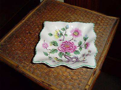 James Kent Old Foley Chinese Rose Square Pin Dish