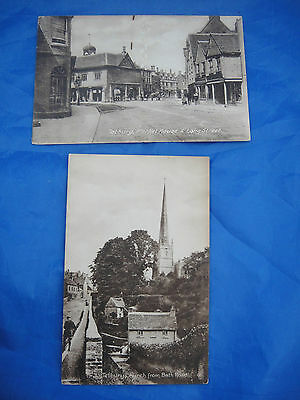 Two Vintage Postcards Featuring Tetbury in Gloucestershire