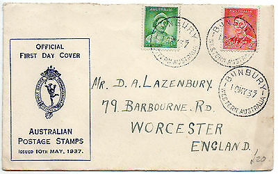 1937 Australia Firtst Day Cover to England