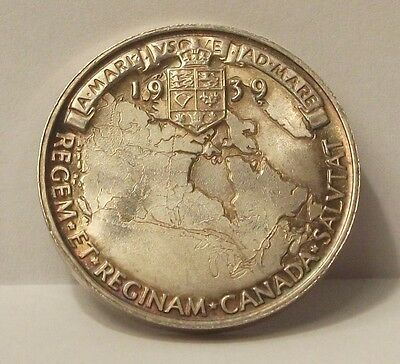 1939 George VI Silver Medal Commemorating Royal Visit to Canada
