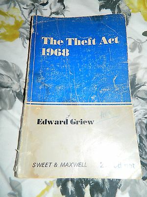 Book .The Theft ACT 1968 paper back Edward Greiw . Old Police training manual