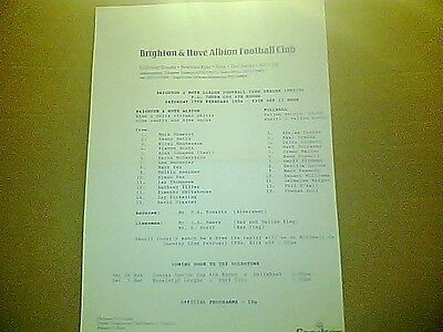 BRIGHTON & HOVE ALBION v MILLWALL F.A. YOUTH CUP  1993/4