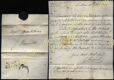 1788 GEORGE FENWICK of LAMBTON, letter posted 272 NEW/CASTLE to Wren, Newcastle