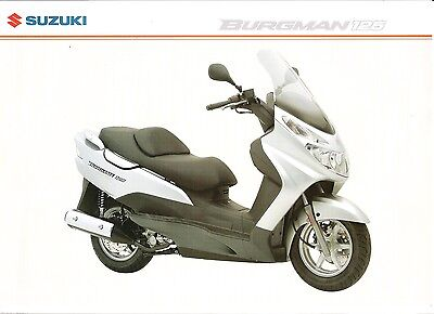Suzuki GB Sales Brochure Burgman 125 Scooter UH125