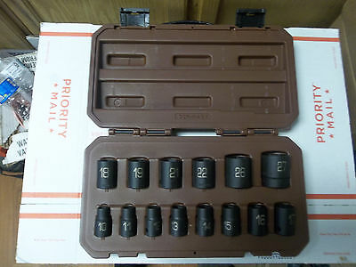 "Matco ADV 1/2"" Drive 14 Piece Metric 6 Point Impact Socket Set SCPM146V"