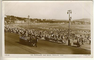 A Tuck's Real Photograph Post Card of The Promenade And Beach, Douglas, I.O.M.