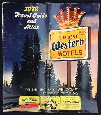 Vintage 1972 The Best Western Motels Travel Guide and Atlas Map Book
