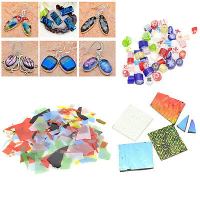 Confetti Glass Chips Multicolor DIY Jewelry Fusing Supply For Microwave Kiln