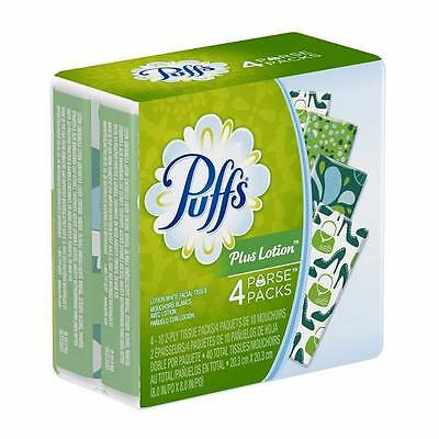 NEW Case Lot Of 96 Puffs Plus Lotion To Go Packs 10 Tissues Each 24 - 4 Packs