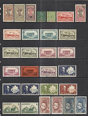 Martinique  - Nice Lot -  Mint & Used Issues  Small Stock Lot
