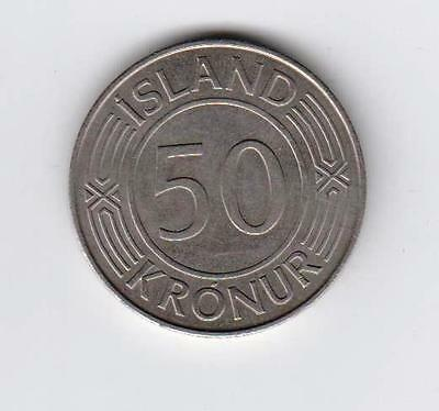 Iceland 1974 50-kronur in Very Good Condition