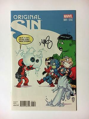 Original Sin #1 Baby Variant Signed By Skottie Young Marvel