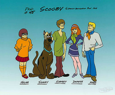 """Scooby-Doo Line-Up"" Limited Edition Sericel UF Animation Art Shaggy Velma"