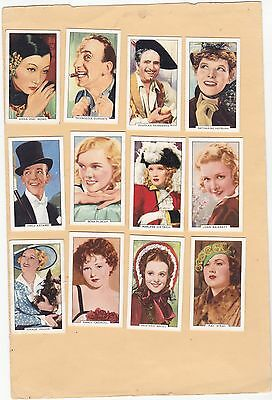 Gallaher Full Set 48.portraits Of Famous Stars. Cat.£50.00. Issued 1935.