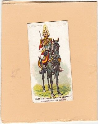 GALLAHER SCARCE CARD THE SOUTH AFRICAN SERIES No.147. 2nd LIFE GUARDS. ISD 1901.