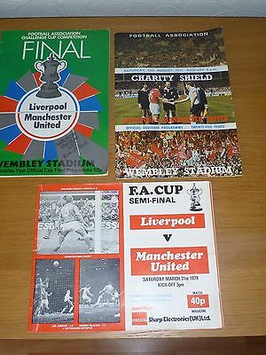 Cup Final 1977**charity Shield 1977**fa Cup S/final 1979  Man United V Liverpool