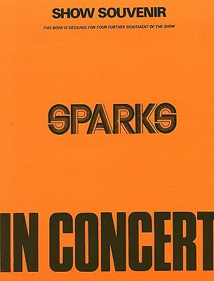 Sparks Ron Mael Russell Mael vintage 1970s CONCERT PROGRAMME