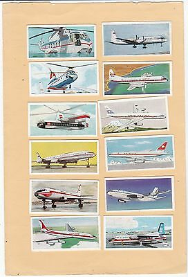 Lyons Tea. Full Set 24,of Wings Across The World.  Issued 1962.
