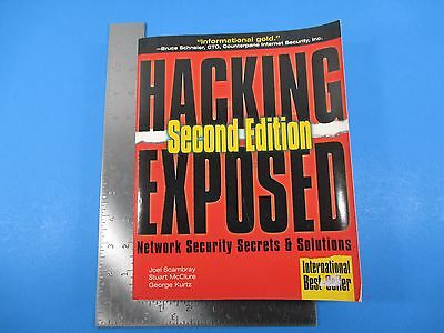 Hacking Exposed 2nd Edition Network Security Secrets & Solutions Scambray Kurtz