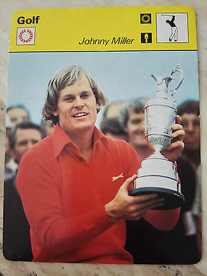 Johnny MILLER US Open Sportscaster Rencontre Photo Fact Card - RARE