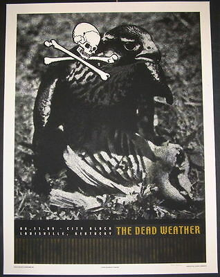 The Dead Weather Louisville Tour Poster Print Signed & Numbered Rob Jones 2009