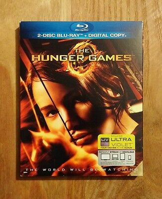 The Hunger Games (2012) Very Good 2-Disc Blu-ray w/ SLIPCOVER! Jennifer Lawrence