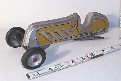 Indianapolis Speedway 1937 Wooden Race Car Floor Toy To Restore