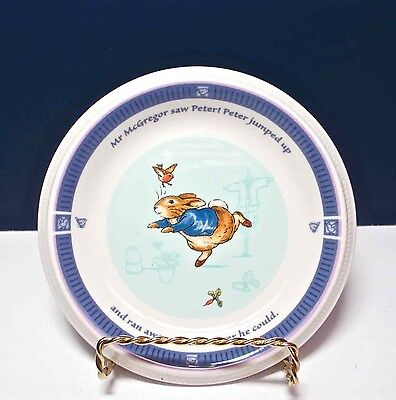 Beatrix Potter Peter Rabbit Bread & Butter Plate Wedgwood 2001 NWT