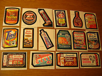 1979 Topps Wacky Packages 16 Sticker Card Lot  SERIES 1 , INCLUDES 2 CHECKLIST