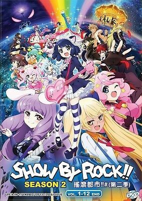 SHOW BY ROCK!! Season 2 | Episodes 01-12 | English Subs | 1 DVD (VS0024)-LU