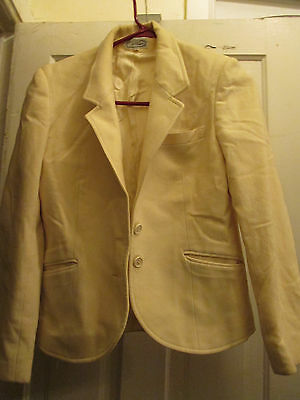 VINTAGE VILLAGER WINTER WHITE LINED WOOL JACKET SIZE 10  This is REAL Villager