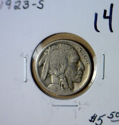 1923s VG + Semi KEY Date Buffalo Nickel Estate Lot FULL DATE Coin #14 NO RESERVE