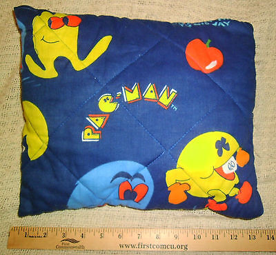 Vintage Pac-Man Pillow Midway Mfg. 1982 Homemade ? Arcade Game  PacMan