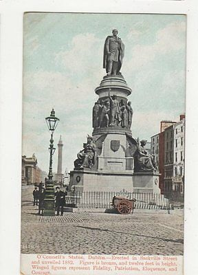 O'Connell Statue Dublin Vintage Postcard Ireland 336a