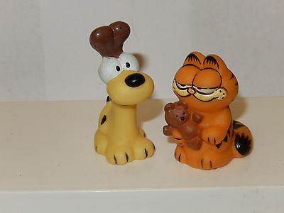 Vintage Odie And Garfield Pencil Topper / Cake Topper Figure Hong Kong