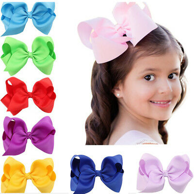1pc Alligator Clips Handmade Big Bow Hair Clip Girls Kids Sides Accessories