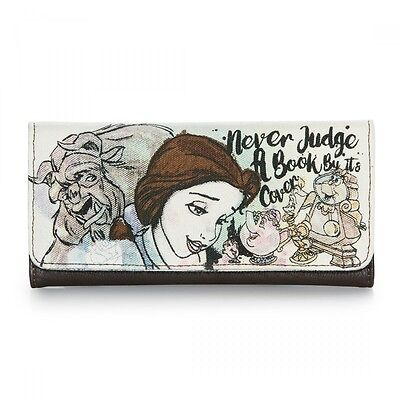 Disney Belle and Beast Never Judge A Book Tri-Fold Wallet Loungefly LF-WDWA0508