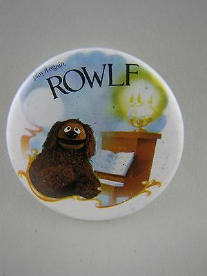 Rowlf Piano Badge Button Pinback Muppets Vintage